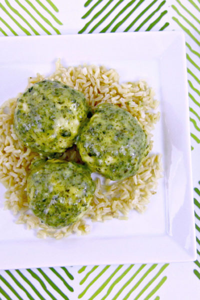 Pesto Mozzarella Chicken Meatballs
