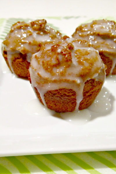 What's Baking: Mini Gingerbread Muffins with Lemon Glaze