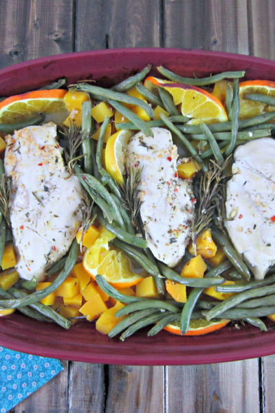 Citrus and Herb Baked Chicken and Veggies