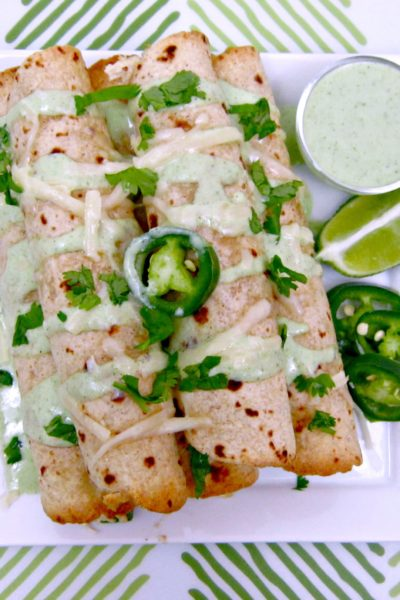 Taco Tuesday: Jalapeno Popper Chicken Taquitos