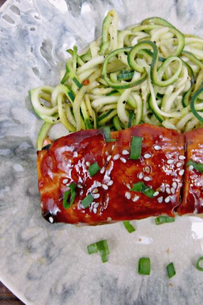 Sweet 'n' Spicy Asian BBQ Salmon