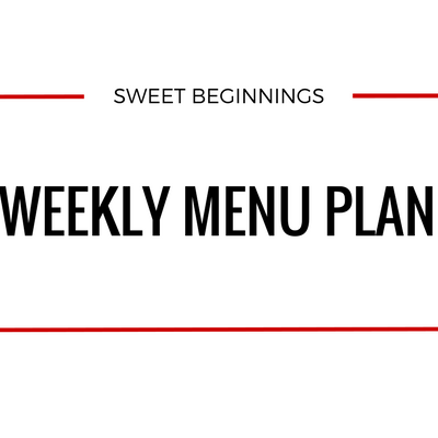 Weekly Menu Plan – Week of 4/14/19