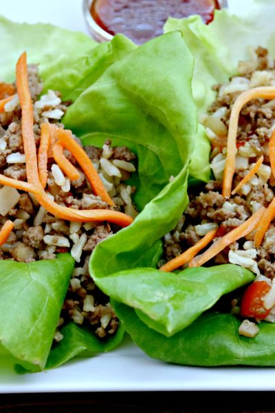 Five Spice Turkey Lettuce Wraps