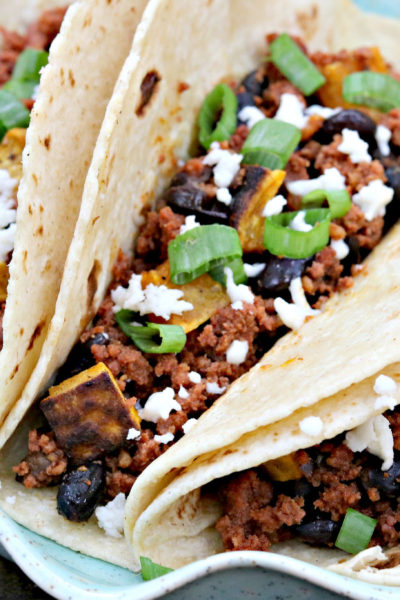 Taco Tuesday: Chorizo, Black Bean, and Sweet Potato Tacos
