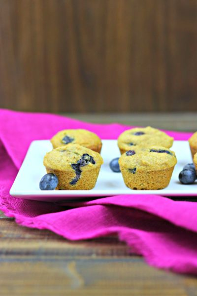 Banana Blueberry Cinnamon Mini Muffins