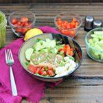 Salmon Greek Salad