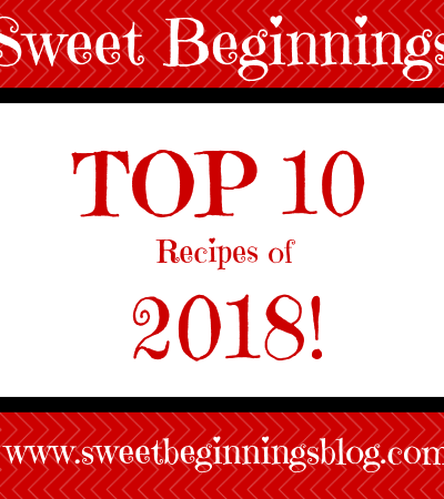 Top 10 Recipes of 2018 – According to YOU!