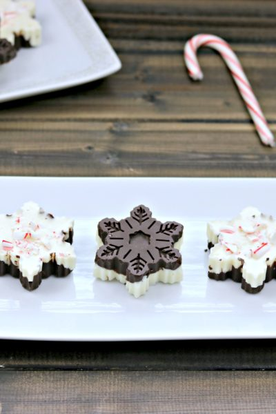 Dark Chocolate Cherry & Peppermint Snowflake Bark