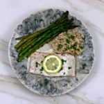 Salmon with Lemon Garlic Cream Sauce