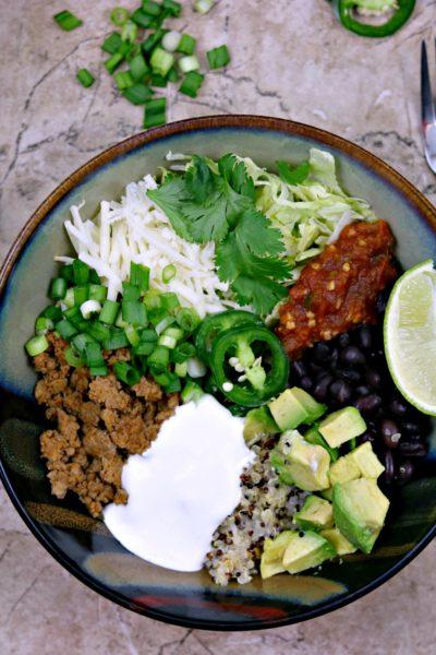 Turkey Taco Burrito Bowls