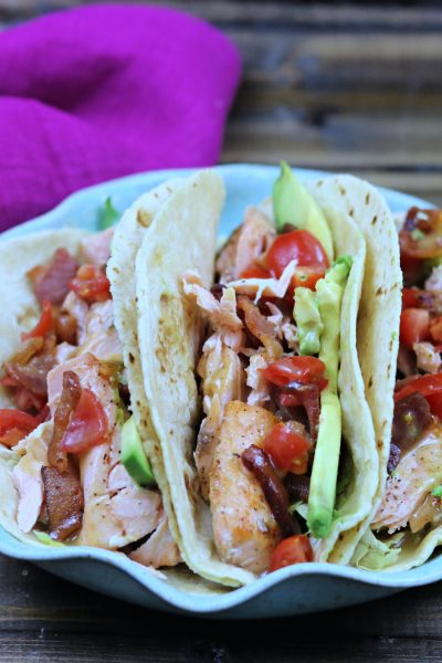 Salmon BLT Tacos