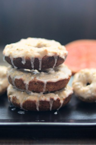 Baked Grapefruit Poppy Seed Donuts