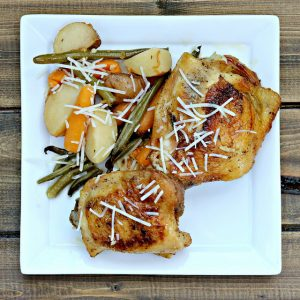 Slow Cooker Garlic Parmesan Chicken and Veggies