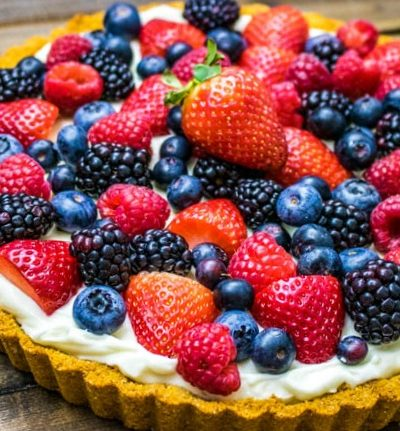 Berry Cheesecake Tart #BrunchWeek