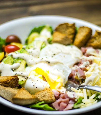 Eggs Benedict Cobb Salad #BrunchWeek