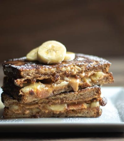 Peanut Butter, Bacon, & Banana Stuffed French Toast