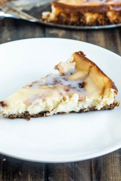 Raspberry Chipotle Cheesecake with Lemon Glaze