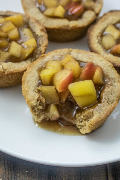 Caramel Apple Cookie Cups