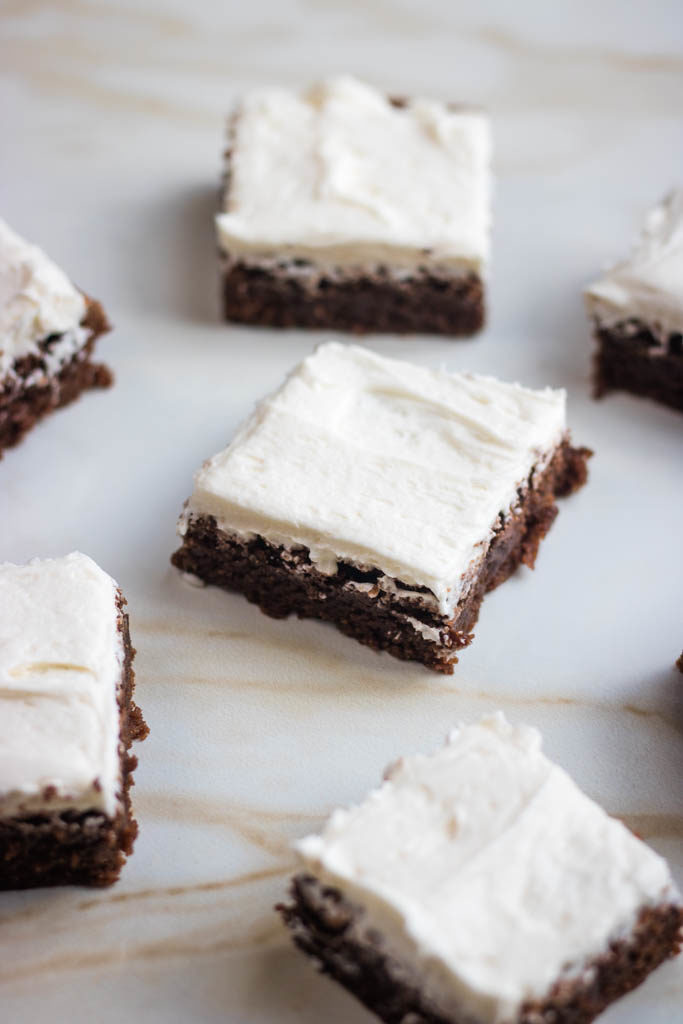 brownies with coffee buttercream