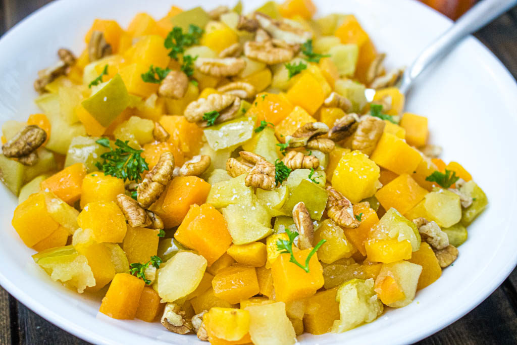 roasted butternut squash with apples