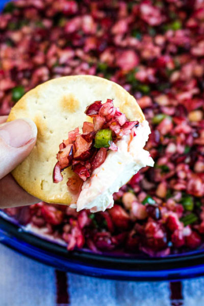 Cranberry Jalapeno Cream Cheese Dip