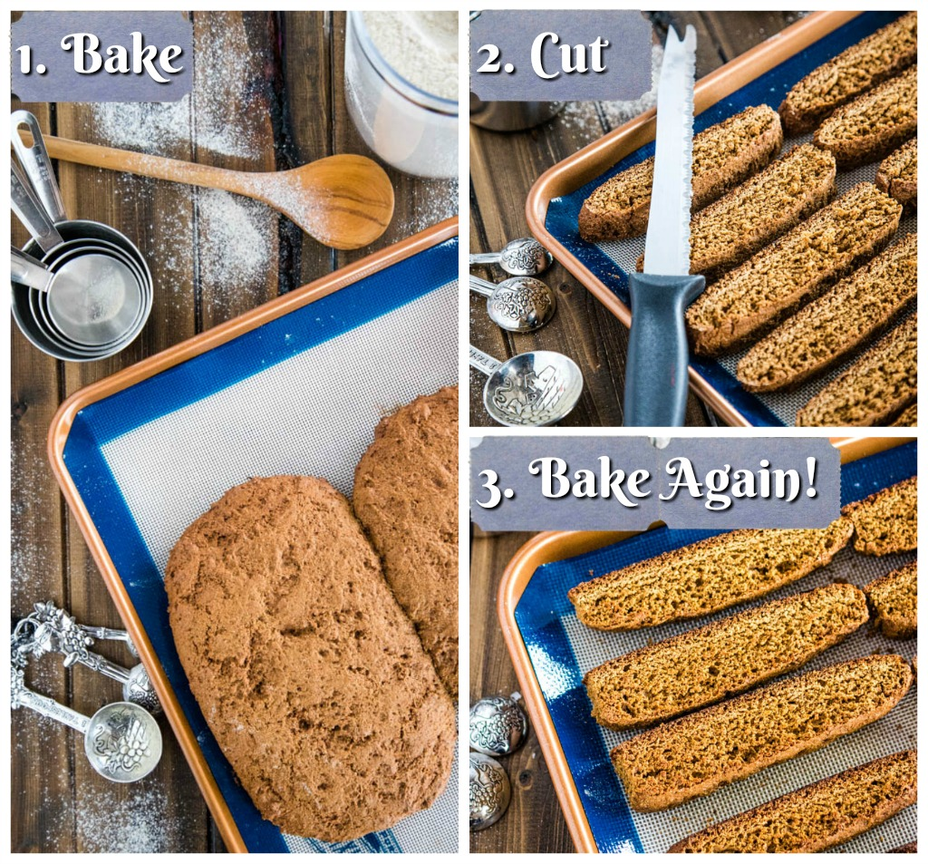 Collage of baking process steps
