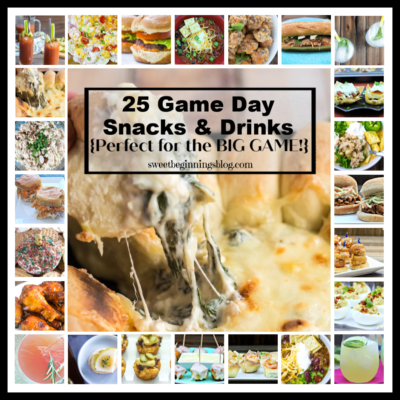 Game Day Snacks Photo Collage