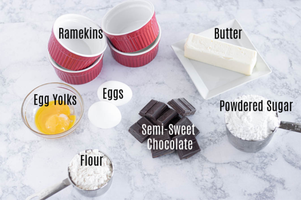 Lava Cake Ingredients