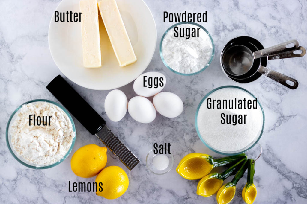 Lemon Brownies Ingredients