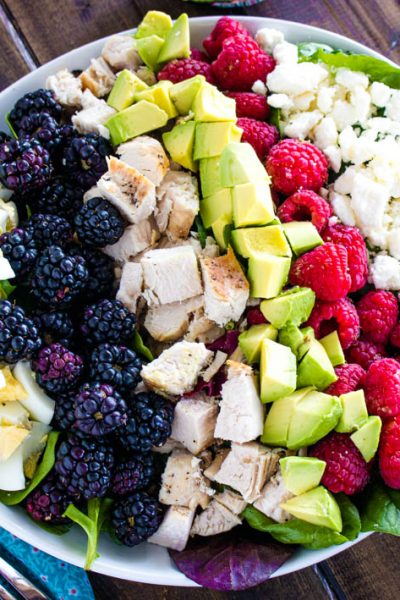 Chicken Cobb Salad with Berries