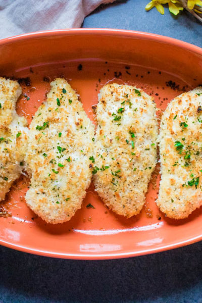 Garlic Parmesan Crispy Baked Chicken