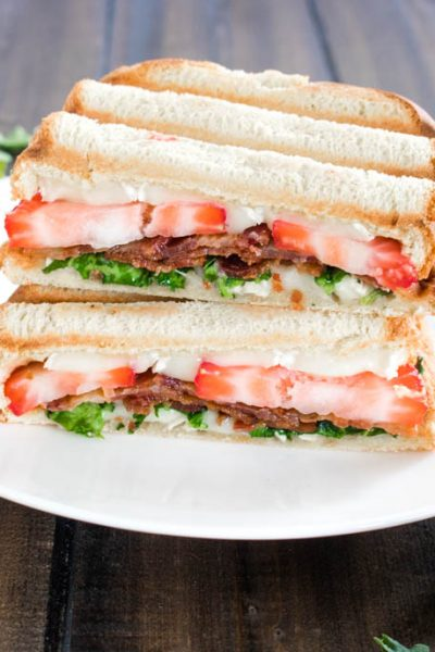 Strawberry Bacon Brie Panini with Balsamic Honey Sauce