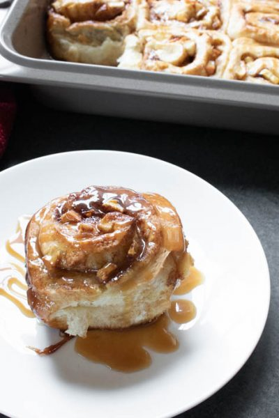 Caramel Apple Cinnamon Rolls