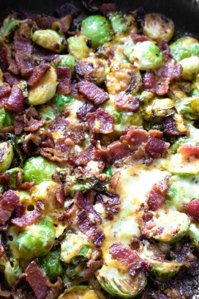 Cheesy Brussels Sprouts Bake