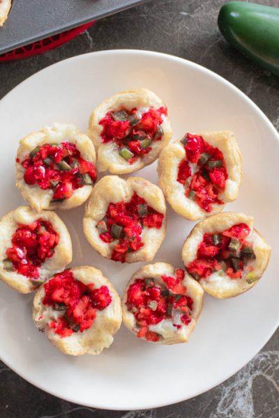 Cranberry Jalapeno Brie Bites