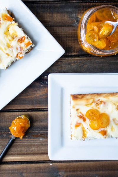 Kumquat Cheesecake Bars #SpringSweetsWeek